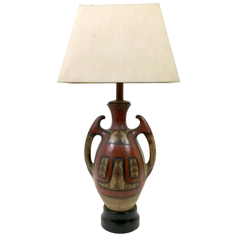 Samuel Marx Indian Pottery Table Lamp