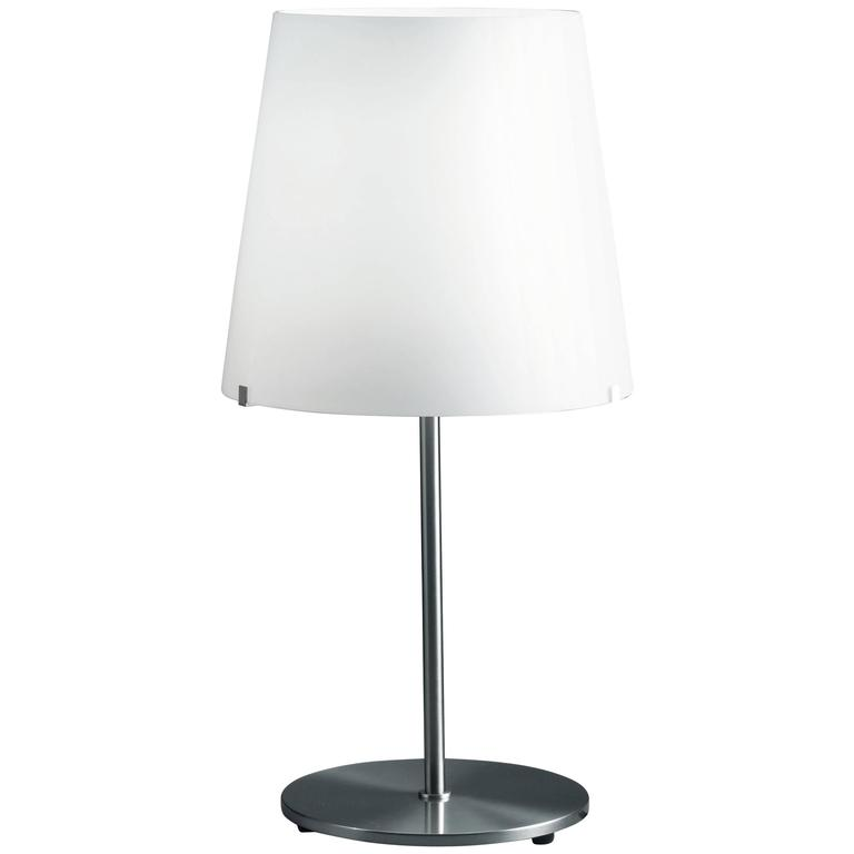Fontana Arte 3247TA Table Lamp in White Frosted Blown Glass, Designed in 1954
