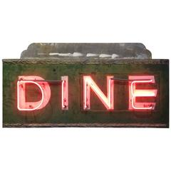 "Vintage Neon Sign ""DINE"" Restaurant Art Deco"