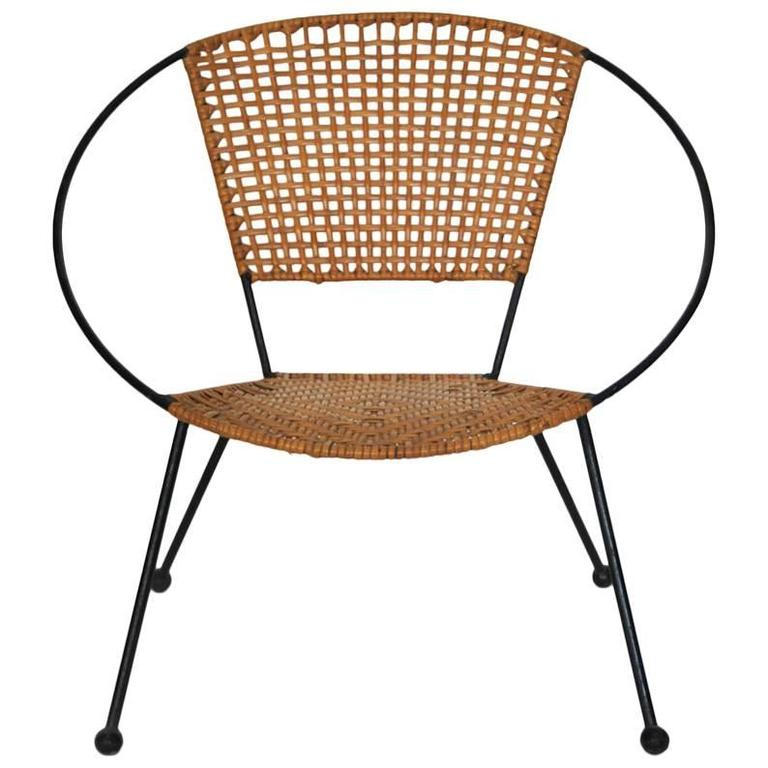 Rattan Circle Child Chair, USA, 1950s