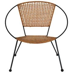 Rattan Circle Child Chair, USA, 1950s