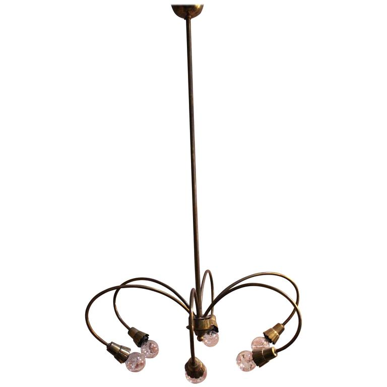 1950s Italian Chandelier by Lumi Milano For Sale