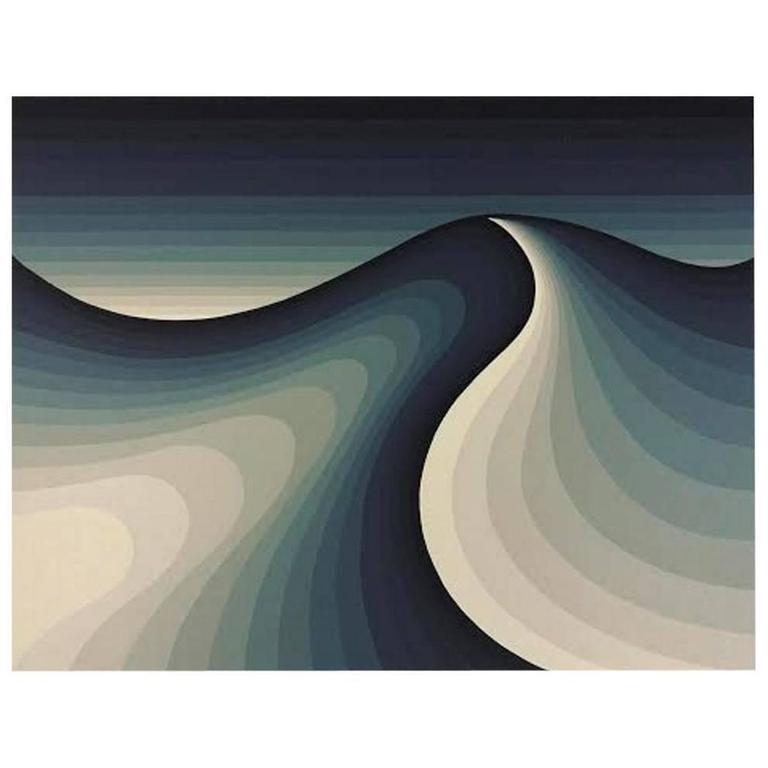 """Roy Ahlgren Silk Screen Print """"Parobolic"""""""