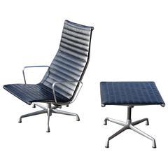Eames Aluminium Group Lounge Chair and Ottoman
