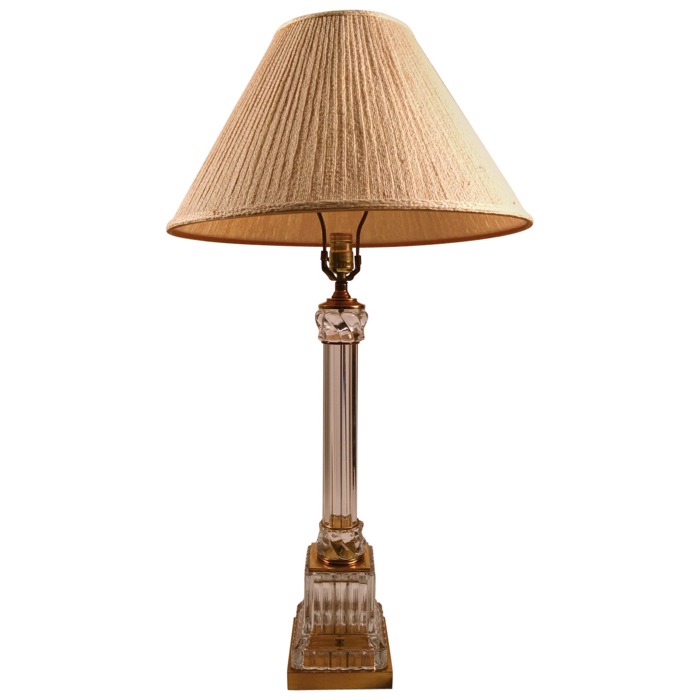 Classical Glass Column Lamp by Paul Hanson