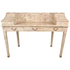Mid-Century Modern Writing Desk in Tessellated Stone by Maitland-Smith