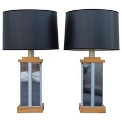 Curtis Jere Style Chrome Table Lamps
