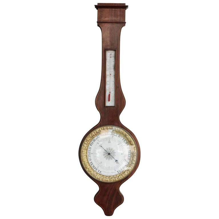 Early 19th Century French Charles X  Period Mahogany and Gilt Bronze Barometer