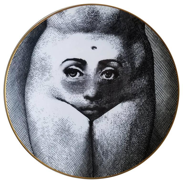 Rosenthal Fornasetti Temi e Variazioni Porcelain Plate, Pattern Motiv 19