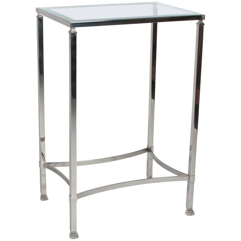 Stainless Side Table with Paw Feet by Philippe Starck 1