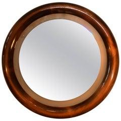 Italian Round Backlight Mirror in Beechwood