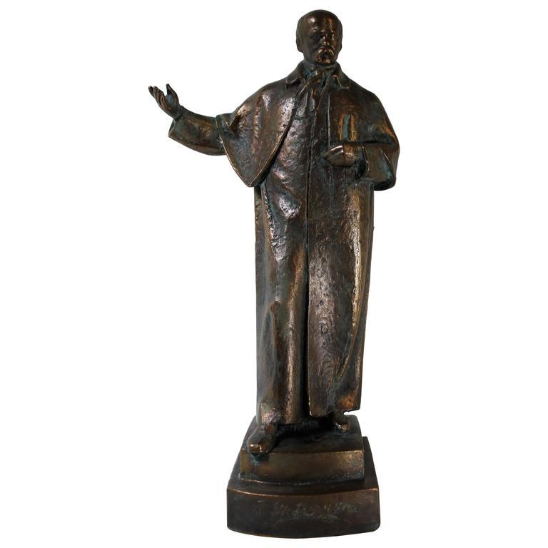 19th Century Bronze Sculpture of Ukrainian Taras Shevchenko For Sale