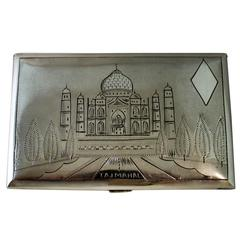 Silver Cigarette Case of Taj Mahal