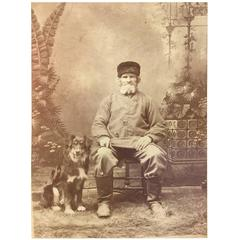 Early CDV Man and his Dog Massachusetts, USA