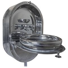 """Vintage Pullman Pull Down """"Train Sink"""" Wall Mount by J. Levick"""