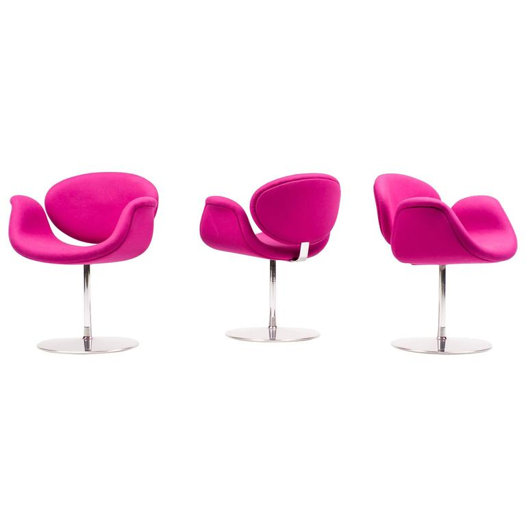 Set of three pierre paulin little tulip chairs for sale at 1stdibs - Tulip chairs for sale ...