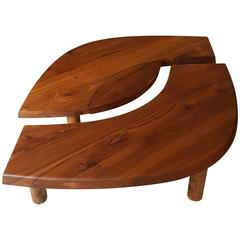 Coffee Table Oeil T22 by Pierre Chapo in French Elm, 1966