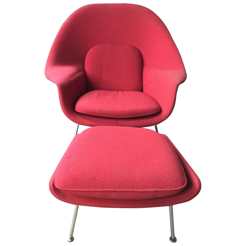 Eero Saarinen Womb Chair and Ottoman for Knoll at 1stdibs