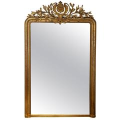 French Mirror Napoleon III Gold Leaf