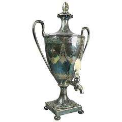 Early 19th Century English Regency Silver Plate Samover/Tea Urn by Elkington