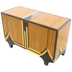 1980s Art Deco Revival Cabinet