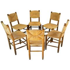 Bauche No. 19 Chairs by Charlotte Perriand for BCB, 1951, Set of Six
