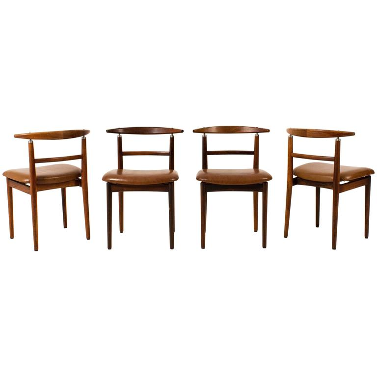 Set of Four Mid-Century Modern Chairs by Helge Sibast for Sibast, Denmark