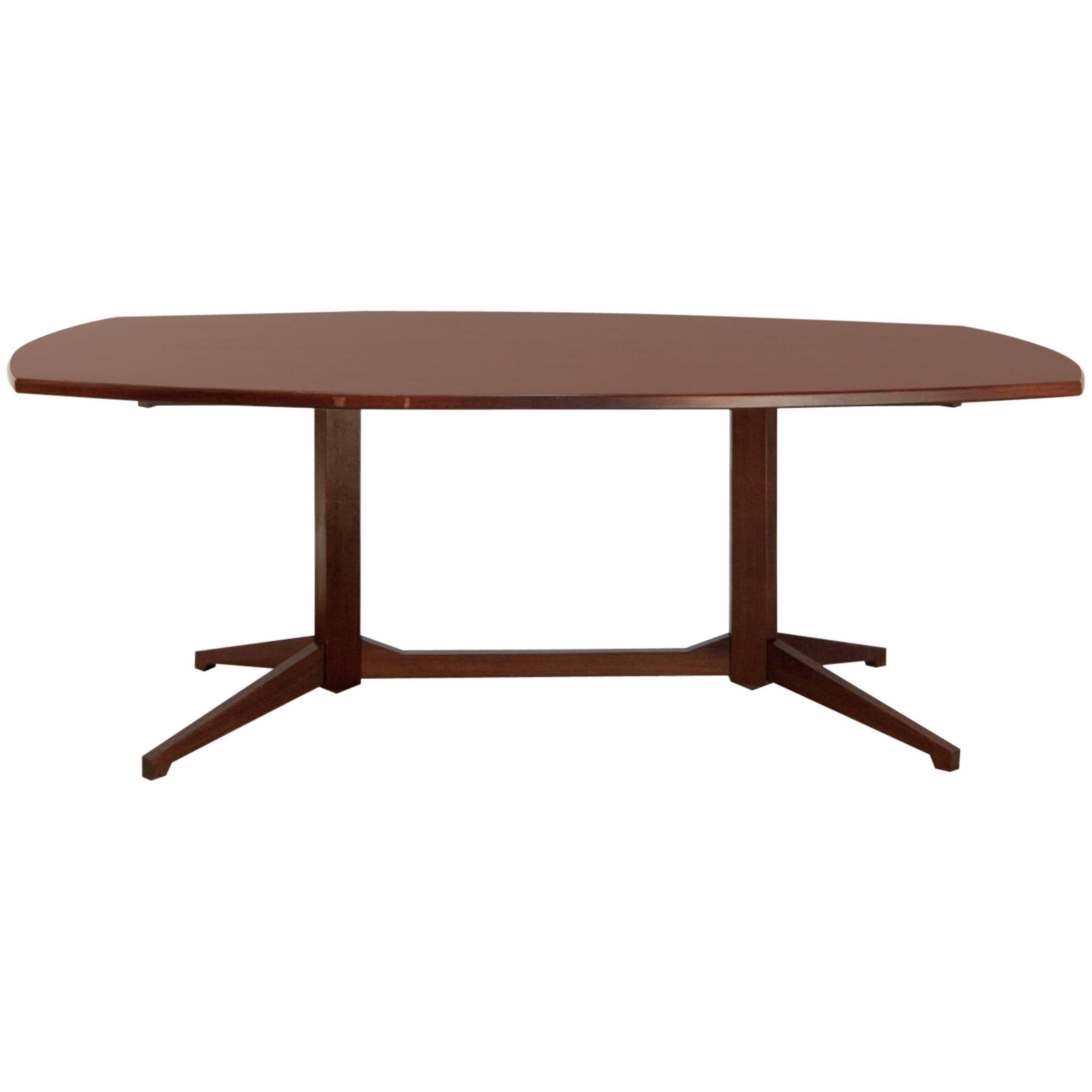 Franco Albini Mahogany mid-centry Italian Table  Model TL-22 produced by Poggi
