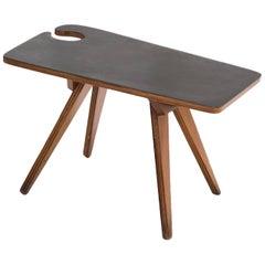 Jose Zanine Caldas Mid-century modern Brazilian Side Table marine plywood 1950