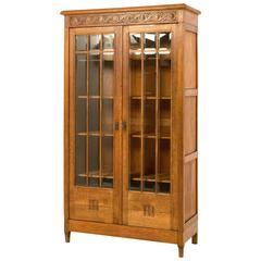 French Oak Art Nouveau Bookcase, 1900s
