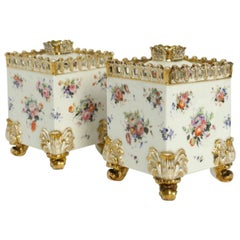 Pair of Paris Porcelain Covered Pots, circa 1830