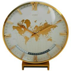 Large Kienzle Automatic Table World Timer Zone Clock, 1960s