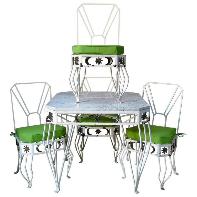 """Unique French 1950s """"Star & Moon"""" Dining Set For Sale"""