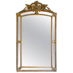 French Mirror Napoleon III Gold Leaf