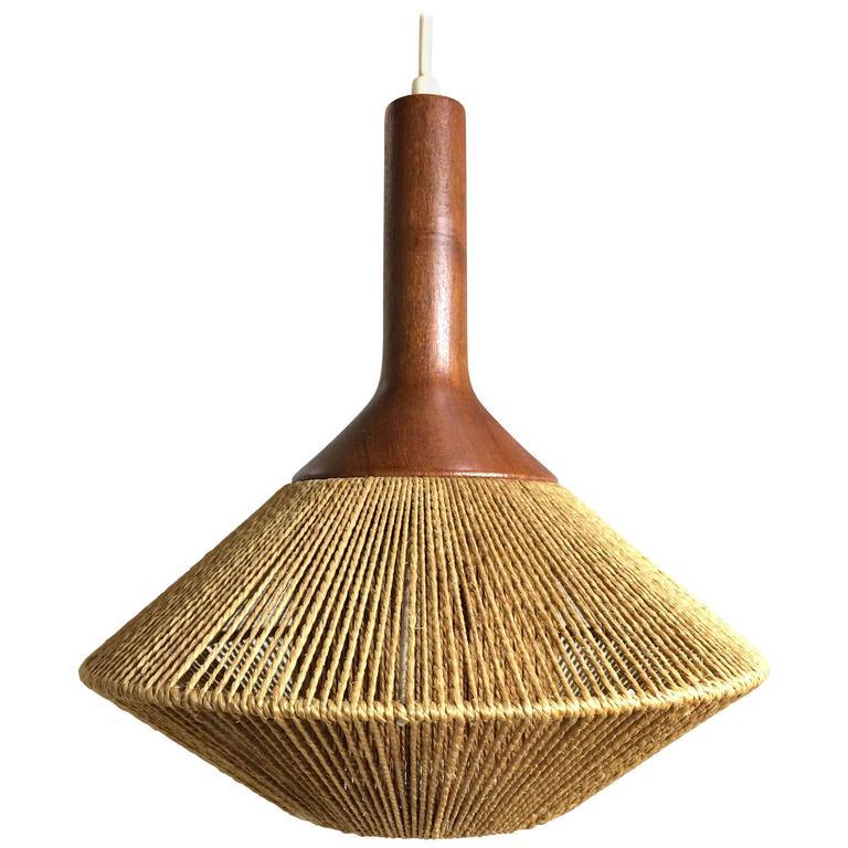 mid century pendant lighting. midcentury modern danish pendant light in jute and teak by fog u0026 morup 1 mid century lighting e