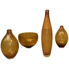 Set of Four 1960 Glasswares, Scandinavian Style