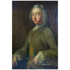 18th Century English Portrait of a Gentleman, Oil on Canvas, Unsigned