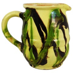 19th French Pottery Rustic Pitcher Savoie