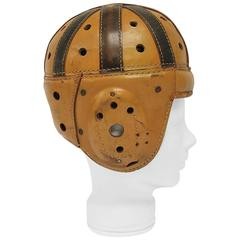 Antique Spalding Football Leather Helmet