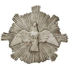 """Stone Dove """"Holy Spirit"""" Religious Plaque"""