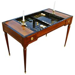 Period 18th Century French Directoire Backgammon or Tric-Trac Table