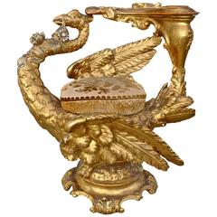 19th Century Venetian Gilt Swan Grotto Chair