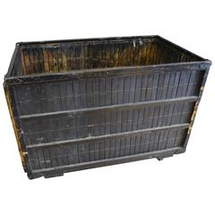 Mid-Century Crate on Wheels from Newspaper Printing Plant