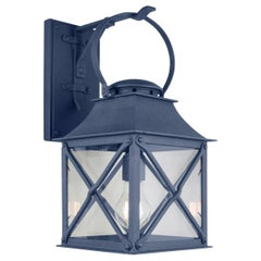 Classic Coastal Wrought Iron Light Lantern with Premium Dark Zinc Finish