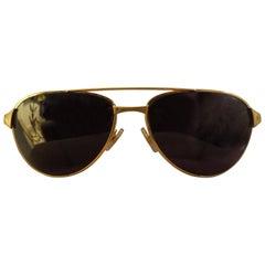 Gold Framed Cartier Santos Sunglasses, France