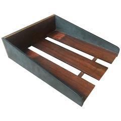 Walnut and Slate Paper Tray by Harpswell House