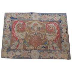 18th Century Savonnerie Tapestry Fragment