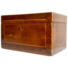 Mid-19th Century American Walnut Tea Caddy