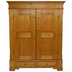 Danish Pitch Pine Armoire