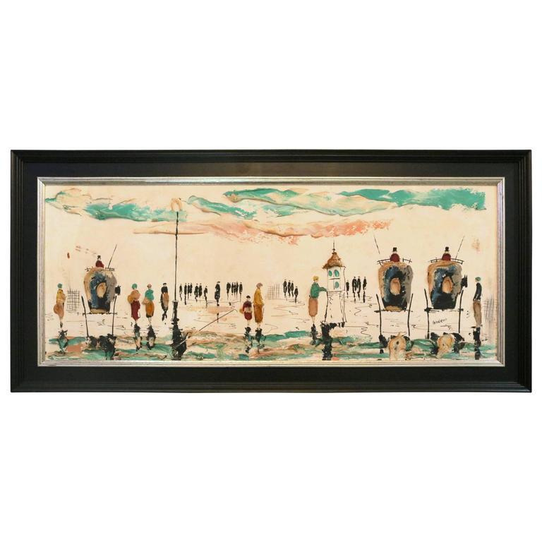 Mid-Century Impressionist Oil on Board Painting by Elmo Gideon